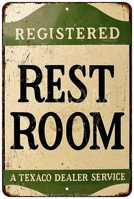 Registered Rest Room Service Vintage Look Reproduction 8x12 Metal Sign 8121194