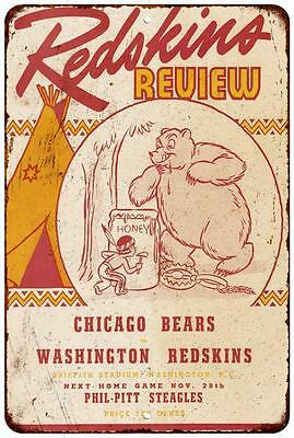 Redskins Review Vintage Look Reproduction Metal Sign 8 x 12 8120468