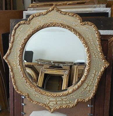 Large Ornate Hard Resin 32x48 Oval Framed Wall Mirror 311 00