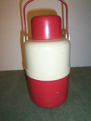 Vintage Plastone's Hot 'N' Cold Thermos With Glass Atlas Mason Jar Insert