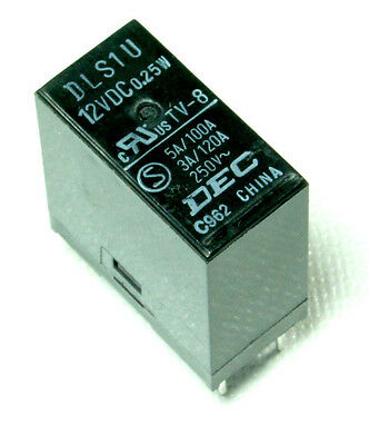 DEC DLS1U Relay 12 volt - 12V DC - PCB / TV Mount - 3A TV-8 .25w