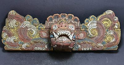 Antique  Indonesian / Indian  Hand Carved Wood Panel ~ 17'' ~