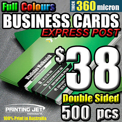 Business Cards 500pcs Double Sided 360 micron Thick Business Card Printing