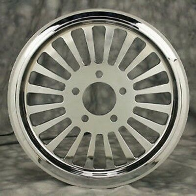 "Fat Spoke 65 Tooth Chrome Pulley 1.5"" Wide Harley Dyna Super Glide Fxd Fxr Fxrs"