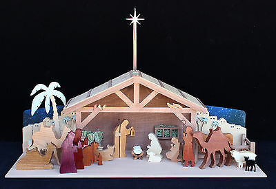 Wood plans for holiday Nativity set.  A great Christmas project