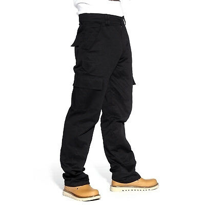 Men's Casual 6 Pocket Cargo Combat Work Military College Hiking Pants Trousers