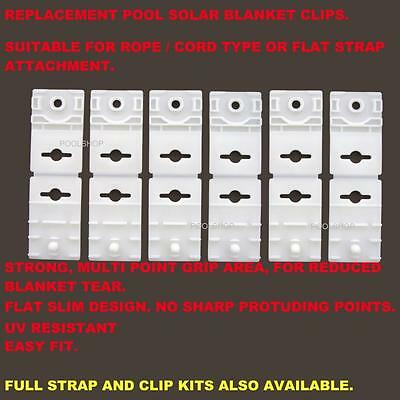 Replacement Clips X 6 Swimming Pool Blanket Roller Strap Kit Reel Clip Straps
