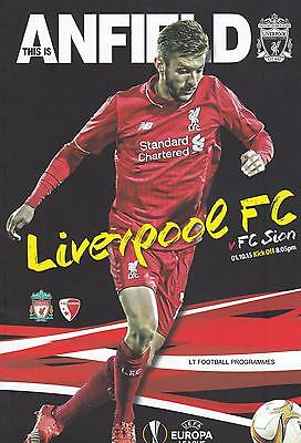 2015/16 - LIVERPOOL v FC SION (EUROPA LEAGUE - 1st October 2015)