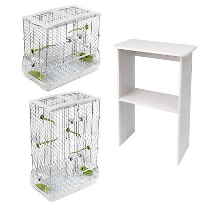 Vision Bird Cage Medium, Single or Double, Optional Stand and Papers