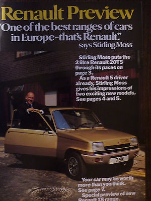 Renault Preview with Stirling Moss UK market sales brochure