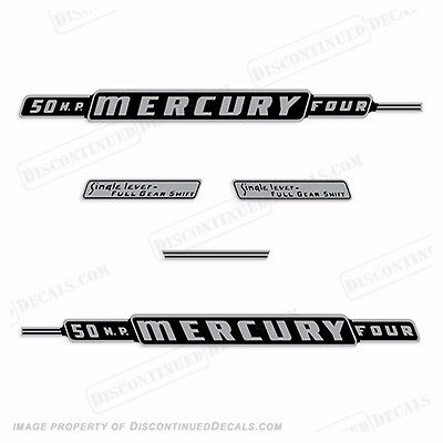 Mercury 1962 50hp Outboard Decal Kit - Discontinued Decal Reproductions in Stock