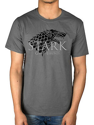 Official Game Of Thrones Stark T-Shirt Direwolf GOT Mother Of Dragons John Snow