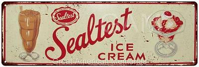 Sealtest Ice Cream Vintage Look Reproduction 6x18 Metal Sign 6180014