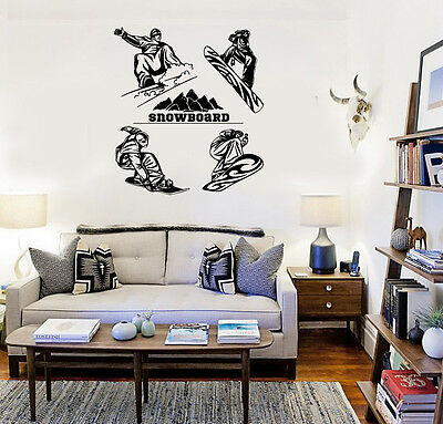 Snowboard Extreme Winter Sports Kids Room Decor Wall Vinyl Sticker ig3161