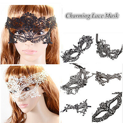 Masquerade Ball Women BlackSexy Lace Eye Mask Halloween Party Fancy Dress Party