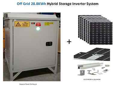 Off Grid Hybrid Battery Storage Inverter System with Solar PV