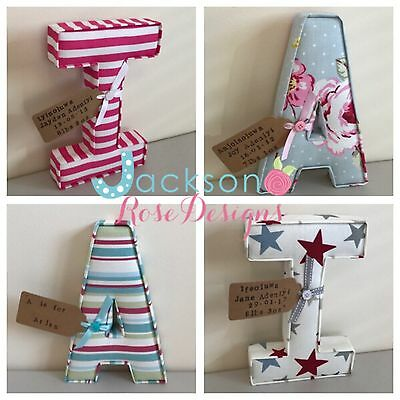Fabric letters Wall Art Handmade Nursery name, personalised, girl, boy With Tag