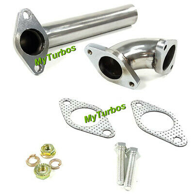 2PCS Dump Tube Pipe+ Elbow Adaptor for 35/38mm Wastegate Actuator racing Turbo
