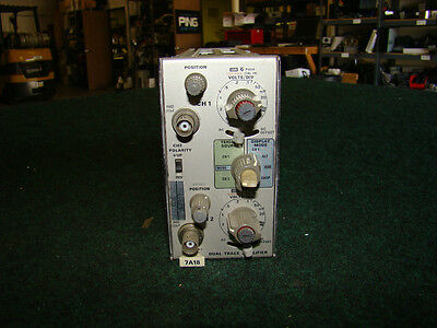 Tektronix 7A18 75MHz Dual-Channel Amplifier w/ Opt 6