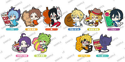SERVAMP - PitaColle Anime Rubber Strap keychain Charm 1 pcs Hug with Food Ver