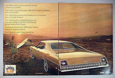 Ford XL 2-Page PRINT AD - 1968 ~~ 1969 model