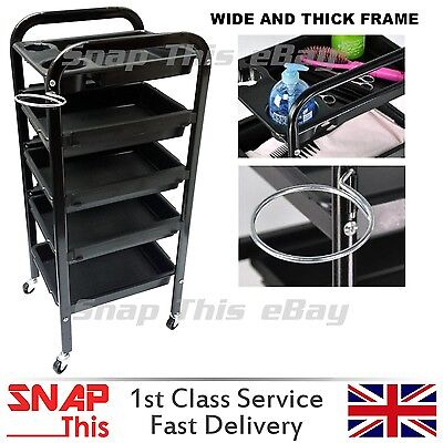 Salon Hairdresser Barber Beauty Storage Trolley Drawers Hair Cart Spa Colouring
