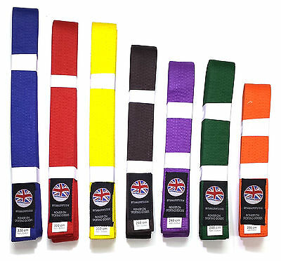 Branded Martial Arts Karate judo jitsu belt red purple orange blue brown  yellow