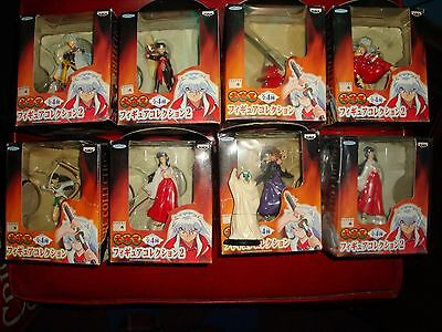 Banpresto InuYasha figure Collection Complete Set x8 +1 NEW IN BOX