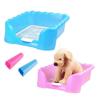 Dog Puppy Plastic Potty Training Fence Tray Pad Pet Pee Toilet for Teddy Poodle