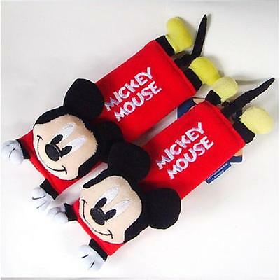 NEW Mickey Mouse Minnie Mouse Car Seat Belt Cover Shoulder Cushion Pads