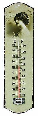 Vintage Wall Thermometer Nostalgic Home Decoration Garden Indoor Outdoor Retro