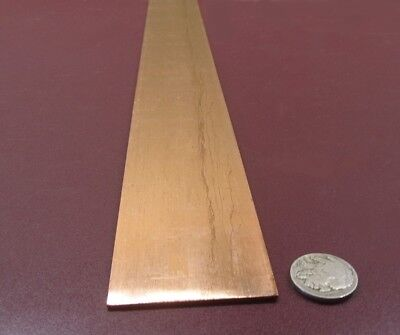 "110 Copper Bar 1/2 Hard H02  .062"" Thick x 2.0"" Wide x 36.0""  Length"