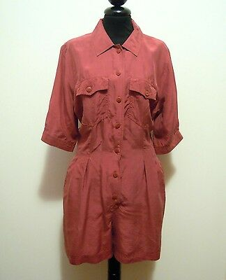 CULT VINTAGE '80 Abito Vestito Donna Seta Silk Woman Dress Sz.M - 44
