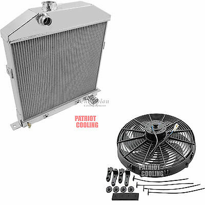"1942 1943 1944-1948 Mercury 29A Coupe Radiator,Alum 2 Row 1""Tubes & 16"" Fan"