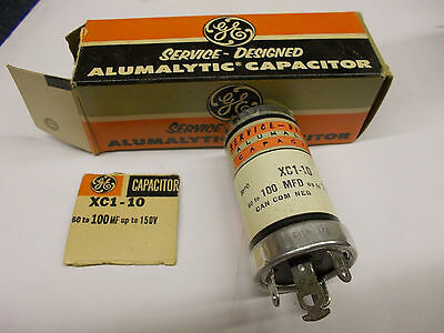 Vintage GE XC1-10 Can Capacitor 60 to 100uf 150VDC