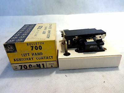 New In Box  Allen Bradley 700-N1 Series A Left Hand Aux. Contact