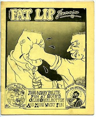 FAT LIP FUNNIES - 1st printing - Yellow cover - Scarce!
