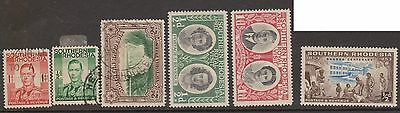 (Q15-137) 1947-53 South Rhodesia mix of10 ½d to 1/-