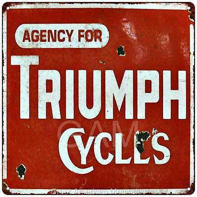 Triumph Cycles Vintage Look Reproduction 12x12 Metal Sign 2120008