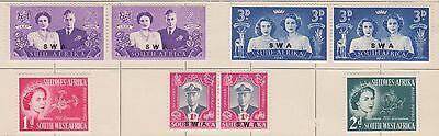 (Q15-38) 1947-60 South Africa mix of32 2d to 1/6 d MH &F/U
