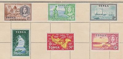 (Q15-41) 1944-53 Tonga 15mix 2part sets 1d to 1/- MH