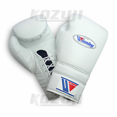 Winning Pro Boxing Gloves MS-500 White, 14oz Lace-up Design, New from Japan
