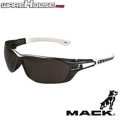 Brand New MACK DUO BLACK & WHITE SAFETY / SUN GLASSES- 1,3 or 8 Pack