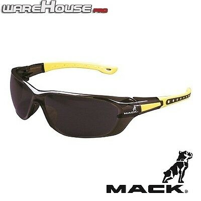Brand New MACK DUO BROWN & YELLOW SAFETY / SUN GLASSES- 1,3 or 8 Pack