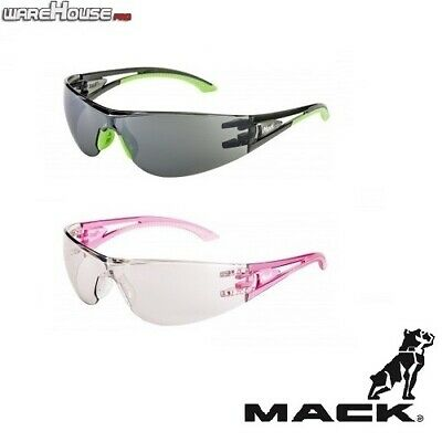 Brand New MACK VX2 PINK, GREEN OR BROWN SAFETY GLASSES- 1,3 or 8 Pack