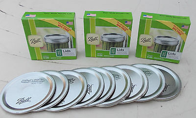 Ball Wide Mouth Lids -36 LIDS (3 box x 12) Ball Mason preserving Jars FREE POST