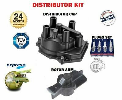 For Nissan Micra K11 1.0 1.3 1993-2000 Distributor Cap + Rotor Arm + Spark Plugs