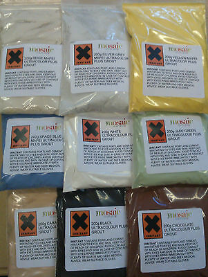 Mosaic Grout 200g + grout spreader Choice of 18 colours  Free 1st class post
