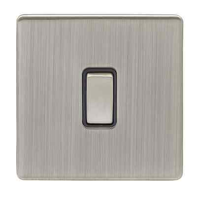 Eurolite 1 Gang 2 Way 10 Amp Switch Satin Nickel
