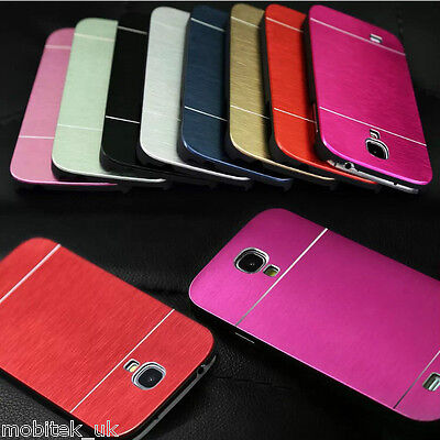 Ultra Slim Brushed Metal Aluminium Luxury Case Cover For Samsung Galaxy S4, S5